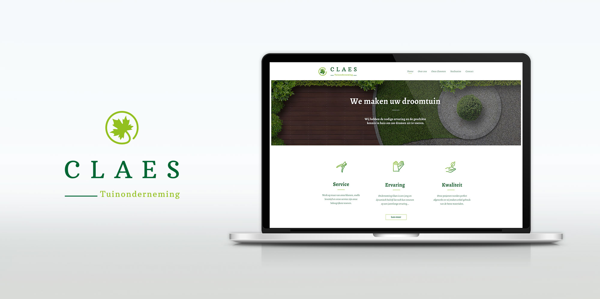 Claes tuinonderneming webdesign